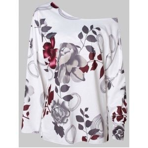 Tops - Drop Shoulder Floral Print Top
